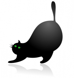 Stretching cat vector