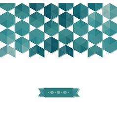 Abstract background banner of hexagon vector