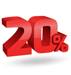 20 percent digits vector image