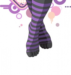 Knee length socks vector
