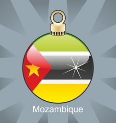 Mozambique flag on bulb vector