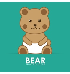 Bear cute vector