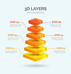 3d layers infographics 02 vector