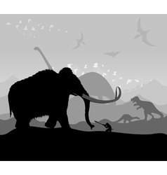 prehistoric vector image