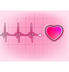 Heart cardiogram background vector