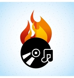 App burn cd design vector