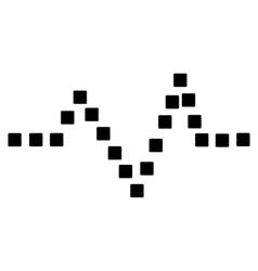 Pulse Chart Toolbar Icon vector image