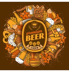 Beermat template vector