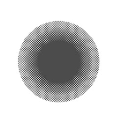 Pop art round elements halftone black dots on vector
