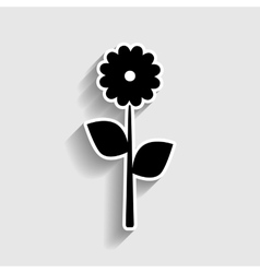 Flower sign sticker style icon vector