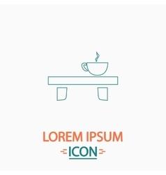 Tea time computer symbol vector