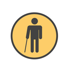 Blind person with a stick vector
