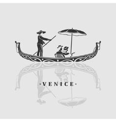 Boat venice vector