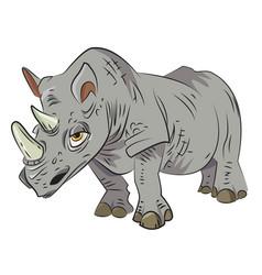 cartoon image of rhino vector image
