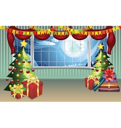 Christmas living room2 vector