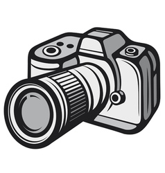 Compact digital camera vector