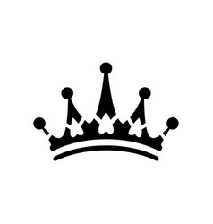 crown sign icon logo vector image