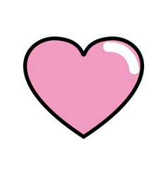 Cute heart love icon vector
