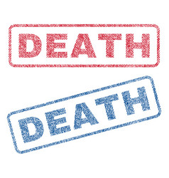 Death textile stamps vector
