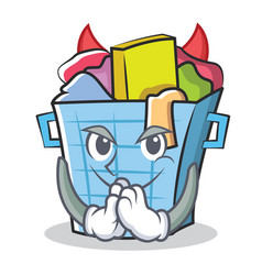 Devil laundry basket character cartoon vector