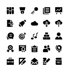 Education solid icons 2 vector