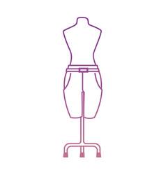Elegant pants for women in manikin vector