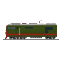 Freight train Isolated on white Side view vector image