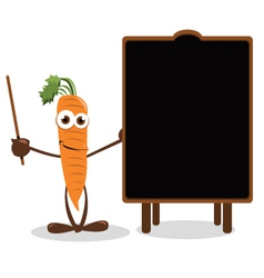 Funny Carrot Pointing a Blackboard vector image
