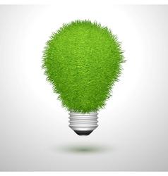 Green creative lightbulb isolated vector