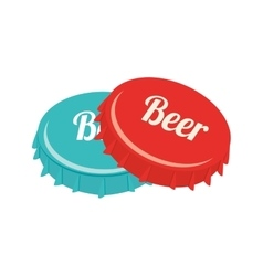 icon caps beer drink liquid isolated vector image