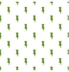 Letter i made of green slime vector
