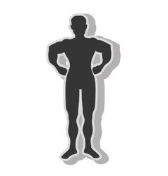 Man bodybuilding muscles vector image