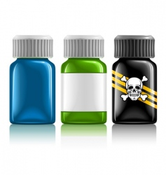 medical bottles vector image vector image
