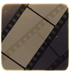 old filmstrip background vector image vector image