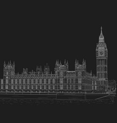 sketch the palace of westminster vector image