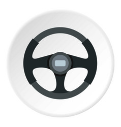 Sports car steering wheel icon circle vector