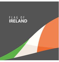 stylish flag of ireland against a dark background vector image vector image