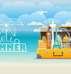Summer vacation travel vector image vector image