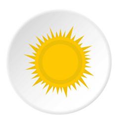 Sun icon circle vector