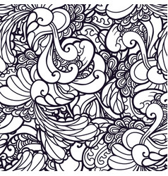 Swirl abstract floral pattern fabric vector