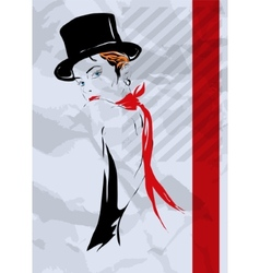 The girl in style of cabaret vector image