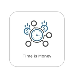 Time Management Icon Flat Design vector image vector image