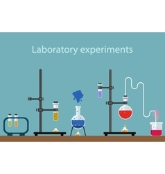 Laboratory experiment vector