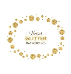 Shiny background with golden glitter dots vector