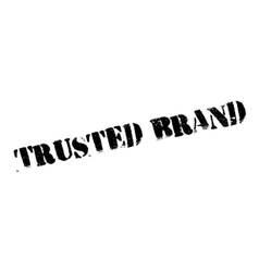 Trusted brand stamp vector