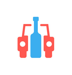 Car and bottle like drunk driver sign vector