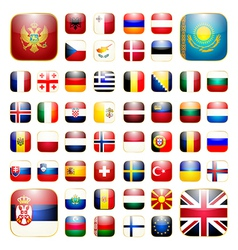 European continent app icon vector