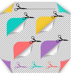 Corners and scissors vector