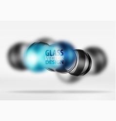 3d techno glass bubble design vector image vector image