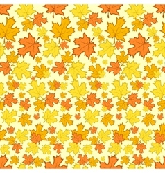 Seamless pattern with colorful autumn leaves vector
